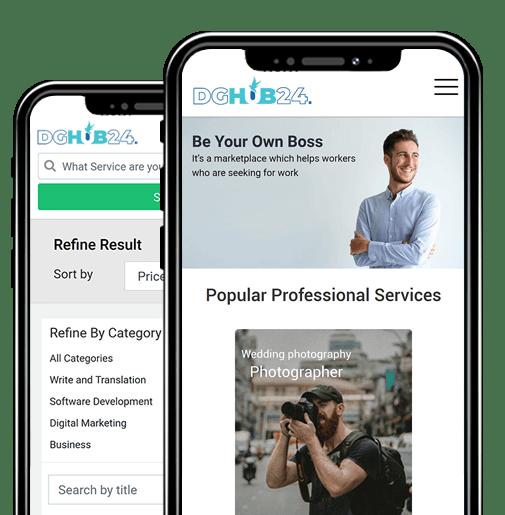 DGHUB24 - Digital Marketplace for Businesses and Freelancers